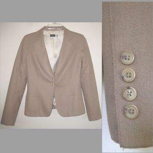 Saks 5th Ave blazer 8 Wool bl Light brown Jacket